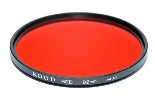 Kood High Quality Optical Glass Red Filter Made in Japan 82mm